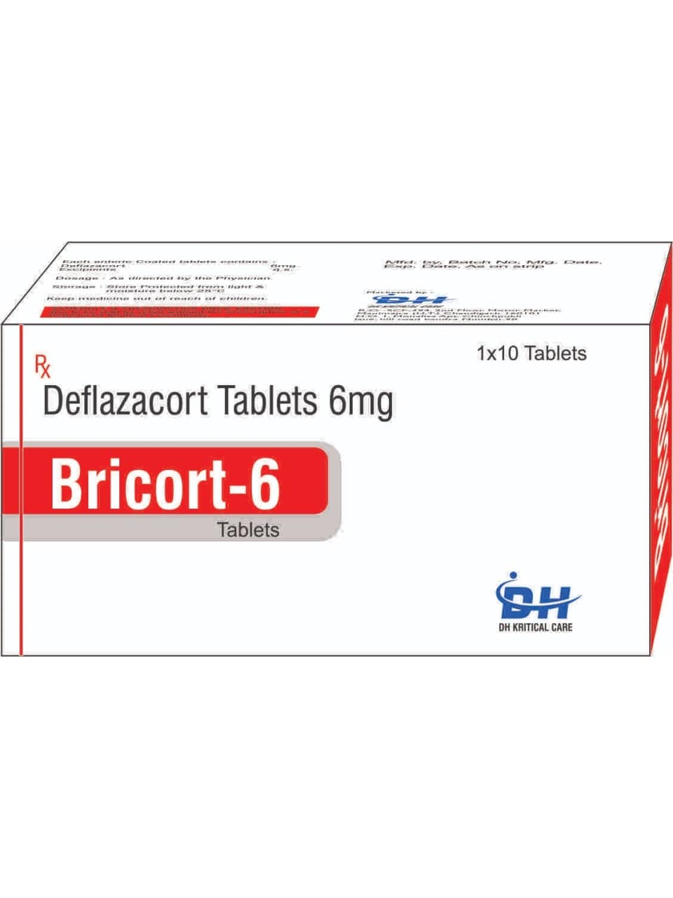 26-Bricort-6-Tablets-Deflazacort-Tablets-6mg-DH-Kritical-Care-Best-PCD-Pharma-Franchise-Company-Chandigarh