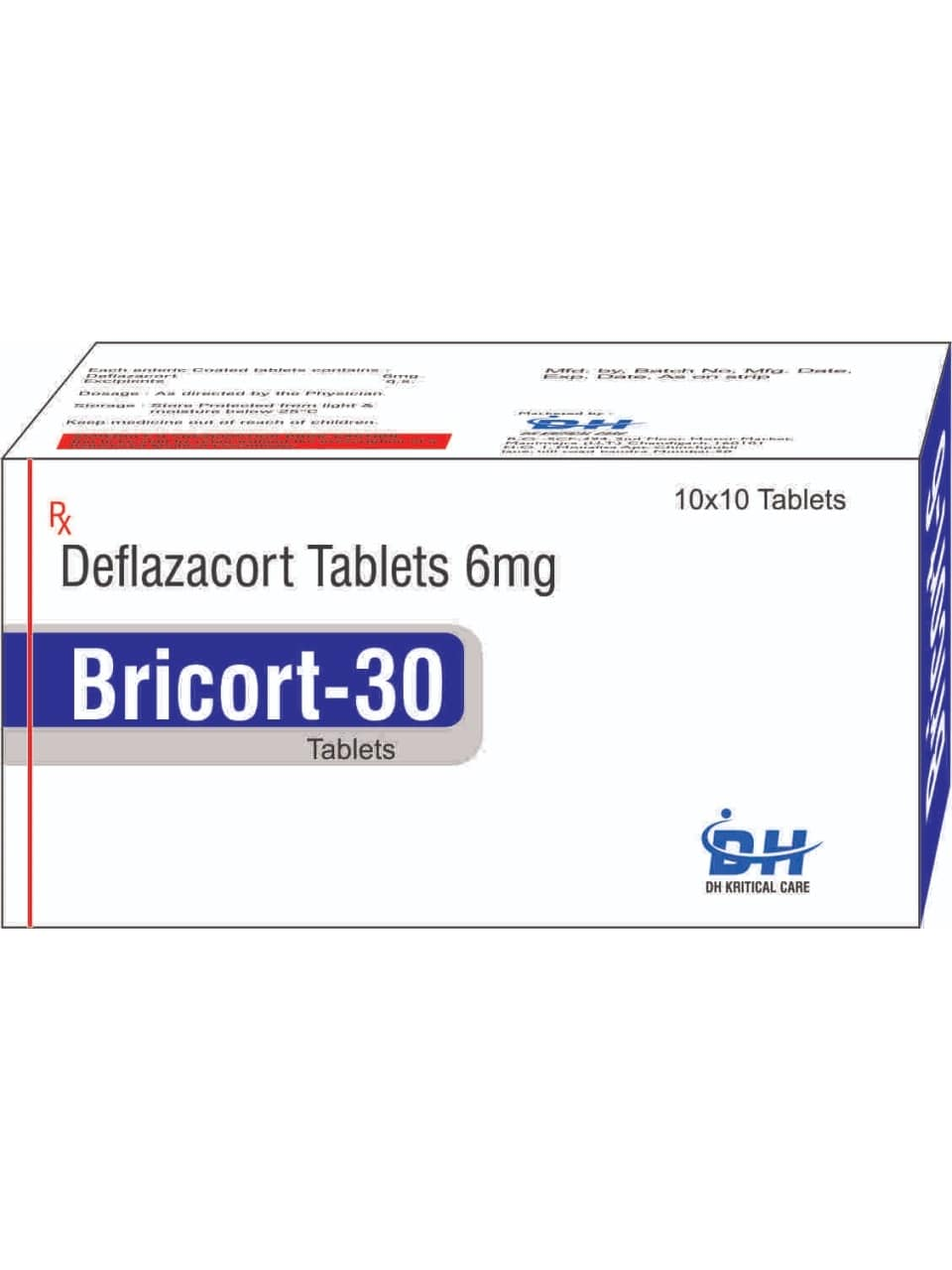 27-Bricort-30-Tablets-Deflazacort-Tablets-6mg-DH-Kritical-Care-Best-PCD-Pharma-Franchise-Company-Chandigarh