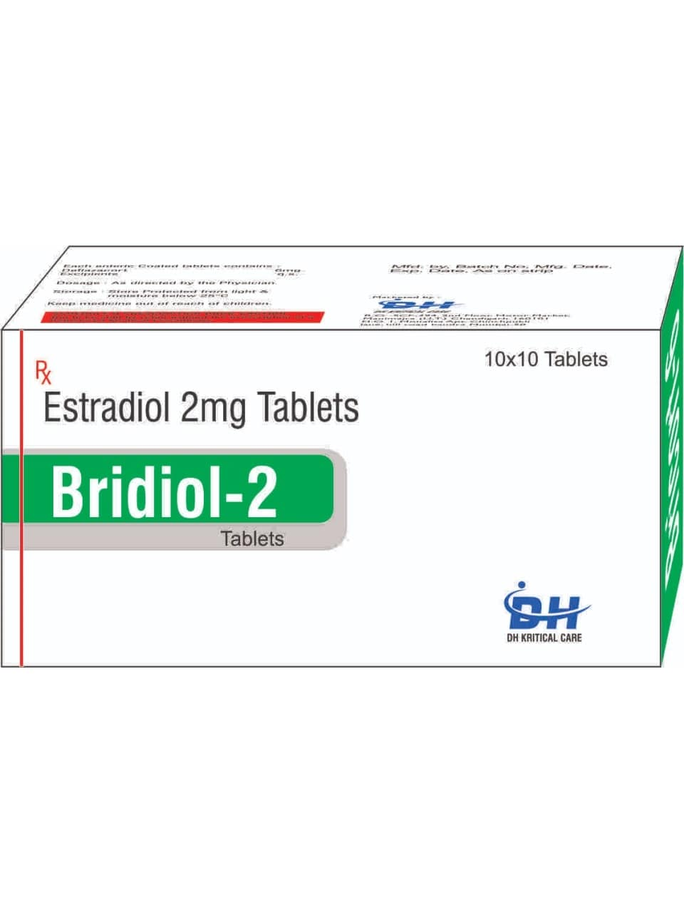 28-Bridiol-2-Estradiol-2mg-Tablets-DH-Kritical-Care-Best-PCD-Pharma-Franchise-Company-Chandigarh